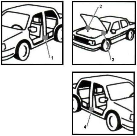 Suzuki схема расположения VIN